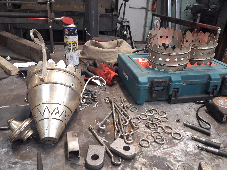 Brass Chandelier for Victorian Church in Kent 5