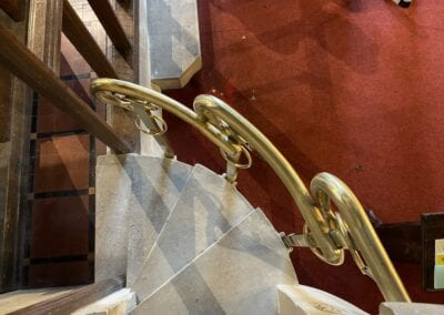 Brass Pulpit Rail for Victorian Church in Kent 3