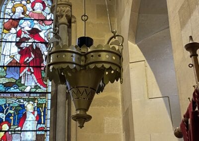 Brass Chandelier for Victorian Church in Kent