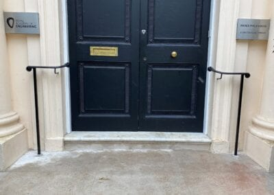 New Entrance Handrails for The Royal Academy of Engineering, London SW1 2