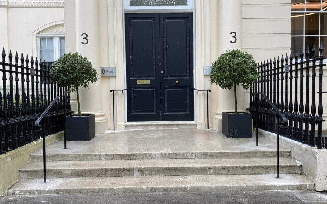 New Entrance Handrails for The Royal Academy of Engineering, London SW1