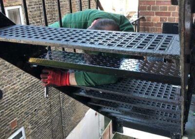 Replacement of Stair Tread Covers and Landing Plates, Stanmore Synagogue, London HA7 4