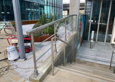 New Stainless Steel Railings, Paddington, London W2 3