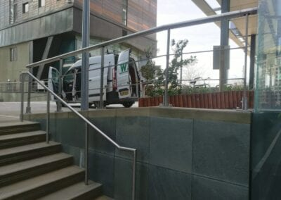 New Stainless Steel Railings, Paddington, London W2 2