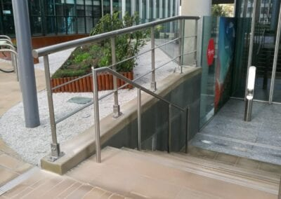 New Stainless Steel Railings, Paddington, London W2 1