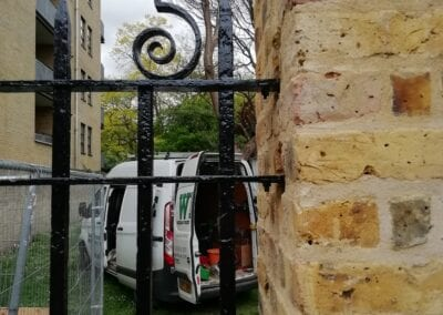 Railing Repairs, Old Paradise Gardens, Lambeth, London SE1 3