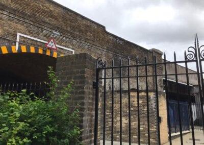New Entrance Gates, Old Paradise Gardens, Lambeth, London SE1 5