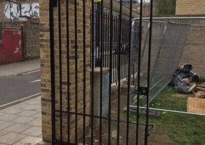 New Entrance Gates, Old Paradise Gardens, Lambeth, London SE1 4