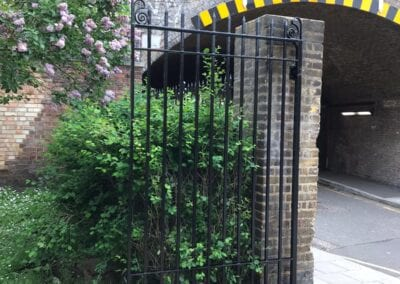 New Entrance Gates, Old Paradise Gardens, Lambeth, London SE1 3