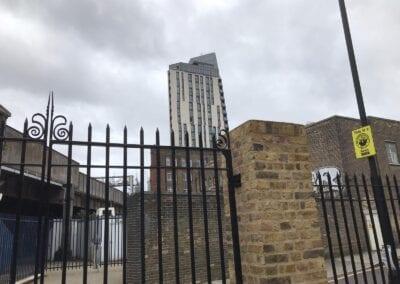 New Entrance Gates, Old Paradise Gardens, Lambeth, London SE1 6