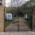 New Entrance Gates, Old Paradise Gardens, Lambeth, London SE1 1