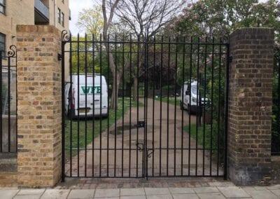 New Entrance Gates, Old Paradise Gardens, Lambeth, London SE1