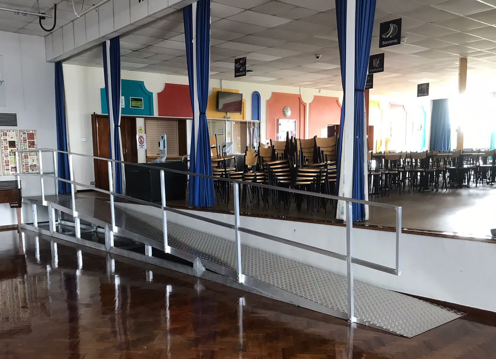 Ramp for the Assembly Hall, Herschel Grammar School, Slough, Berkshire 1