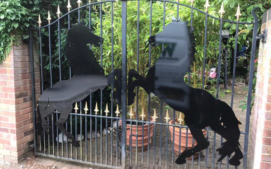 Horse Silhouettes for Double Gates, Loughton, Essex