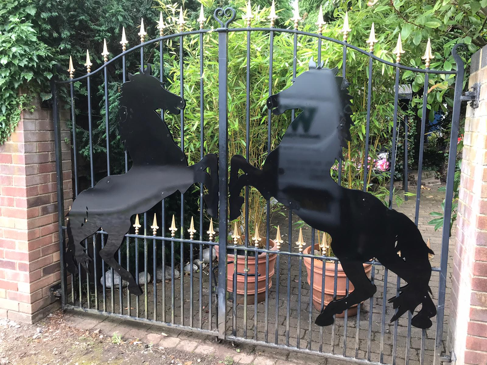 Horse Silhouettes for Double Gates, Loughton, Essex 1
