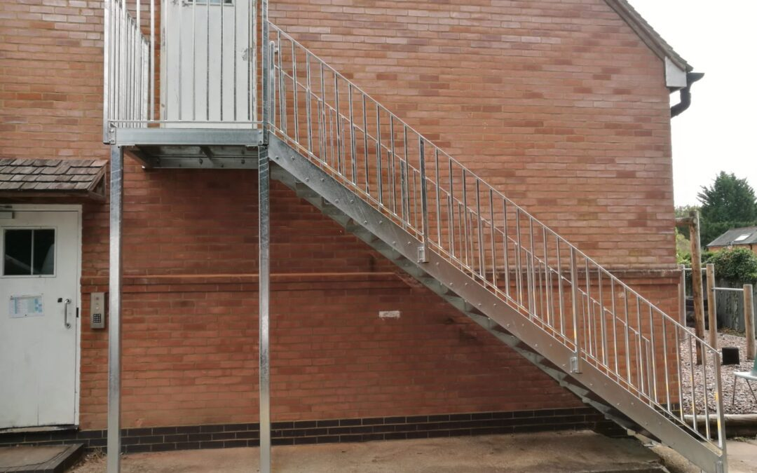 Replacement Fire Escape for Knowl Hill School, Pirbright, Surrey