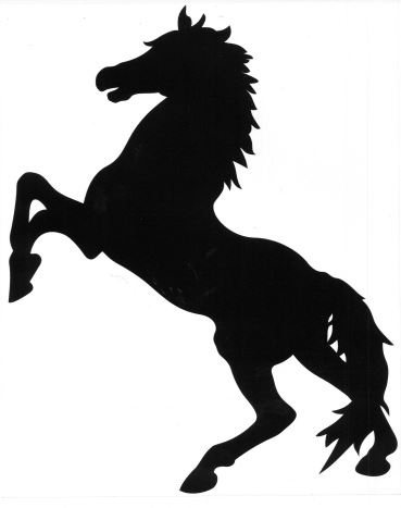 Horse Silhouettes for Double Gates, Loughton, Essex 2